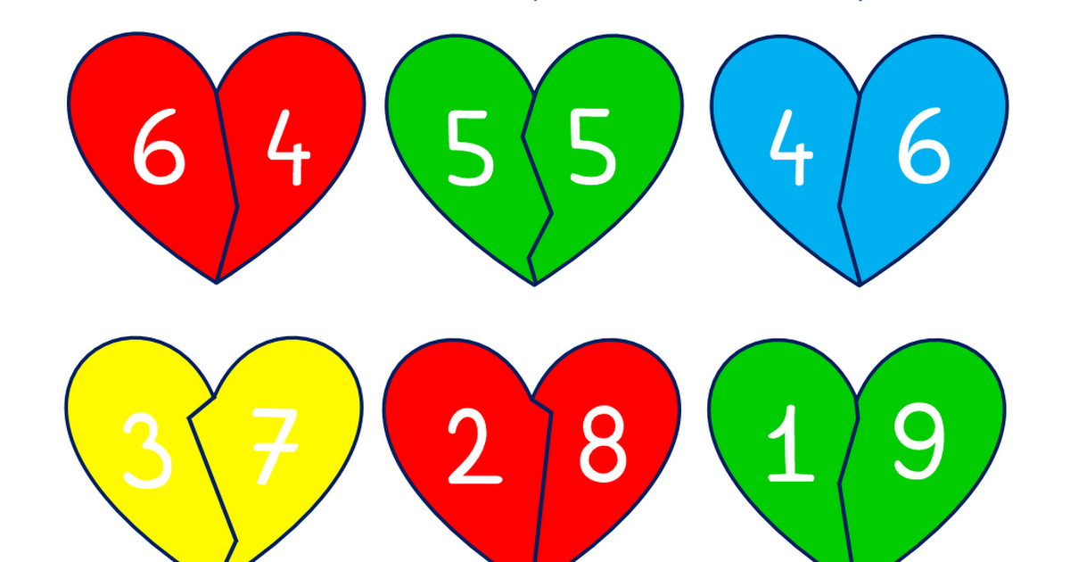 Verliebte Zahlen bunt.pdf | Schule | Pinterest | Maths
