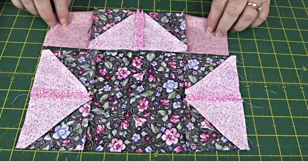 We Love It When A Somewhat Complex Looking Block Comes Together Using Simple Methods Like The Half Square Triangle