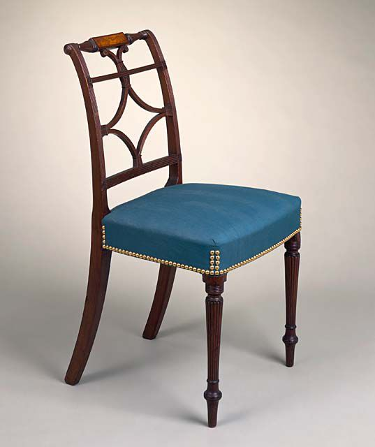 Scroll-back Side Chair with Inlaid Rail and Reeded Legs, John Seymour (attributed to), 1800-1815, LACMA Collections Online