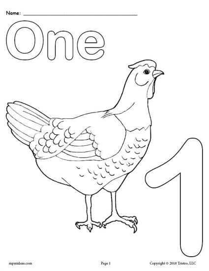 Printable Animal Number Coloring Pages Numbers 1 10 Numbers Preschool Coloring Worksheets For Kindergarten Free Printable Numbers