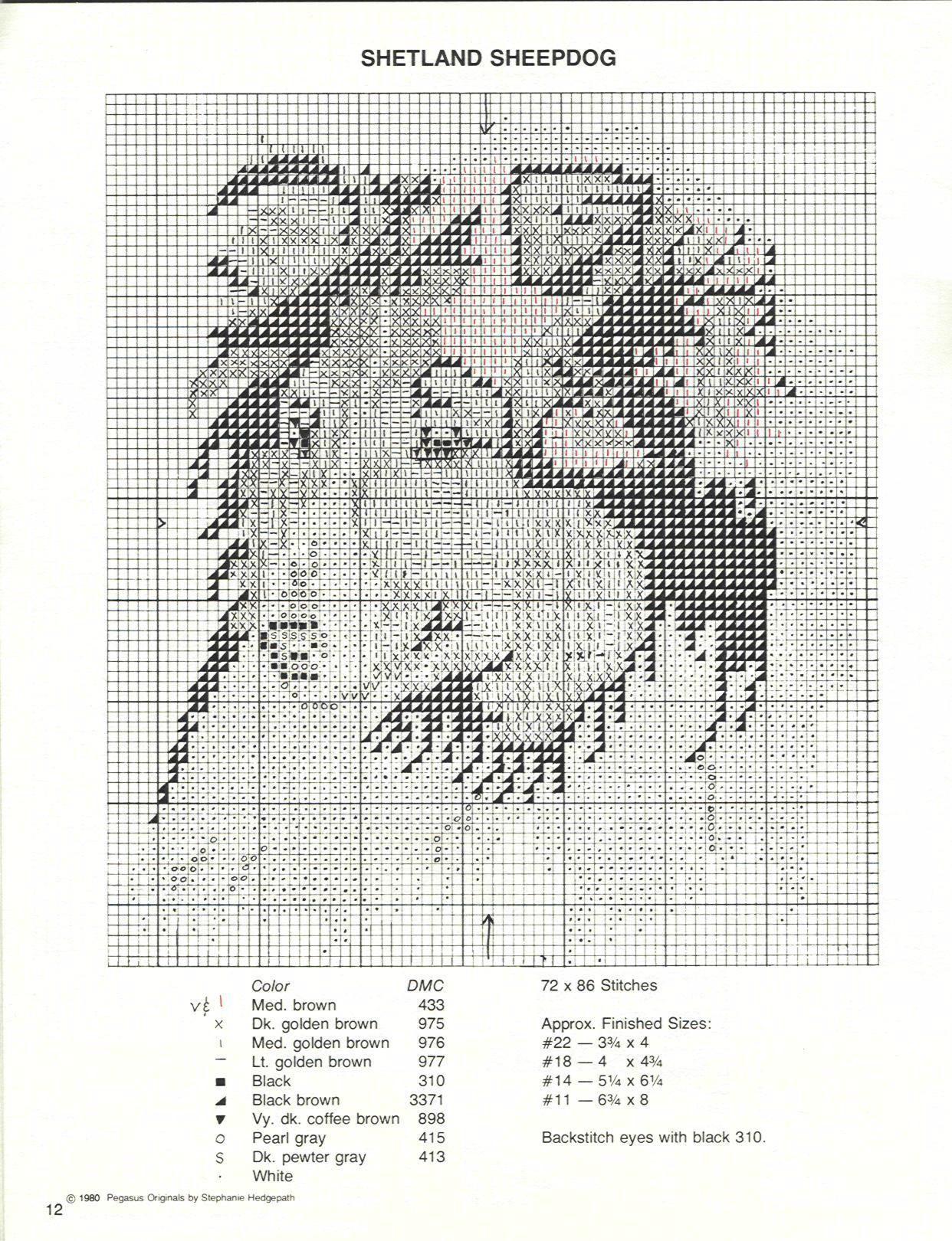 Sheltie dog cross stitch pattern chart sable click to enlarge sheltie dog cross stitch pattern chart sable click to enlarge cross stitch cats and dogs pinterest cross stitch stitch and chart nvjuhfo Images