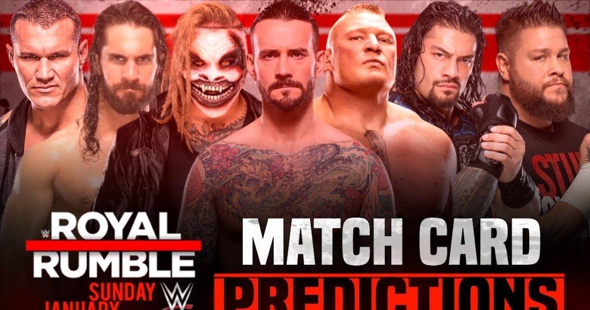 Wwe Royal Rumble 2020 Match Card Predictions Wwe royal