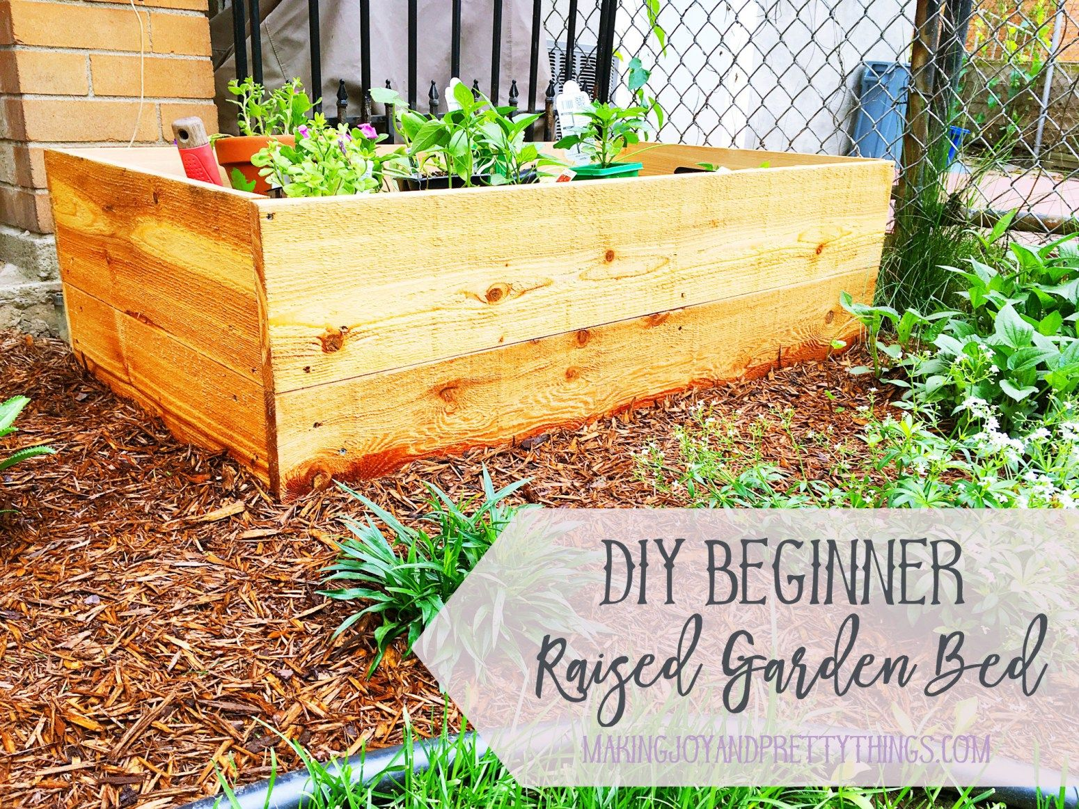 DIY Beginner Raised Garden Bed Raised garden beds