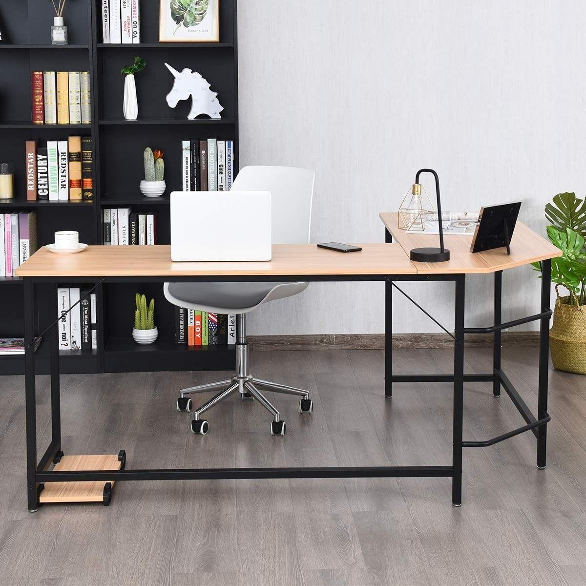 L Shaped Corner Computer Desk Laptop Gaming Table