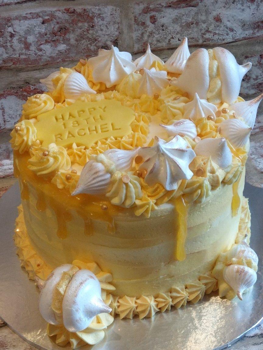 Lemon Meringue Celebration Cake Lynn Loves Cakes Lemon Birthday