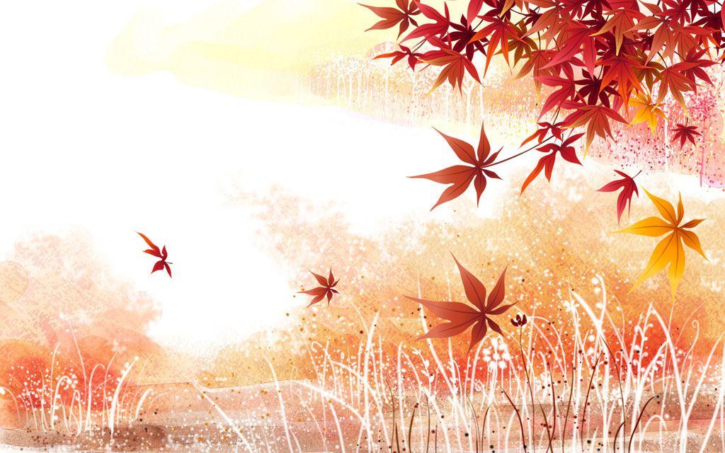 フリーイラスト素材 イラスト 風景 自然 カエデ モミジ 紅葉