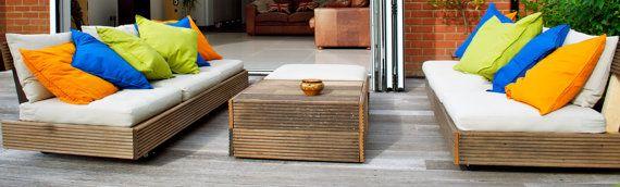 Bespoke outdoor garden furniture hand made from reclaimed wood