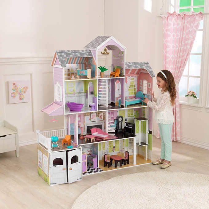 Dollhouse Set 26 Piece 4 Levels 12 Inch Dolls Working Accessories 9
