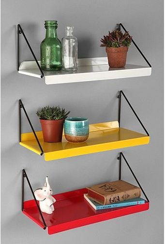 24 Colorful Metal Shelving And Storage Solutions Modern Wall Shelf Shelves Wall Shelves