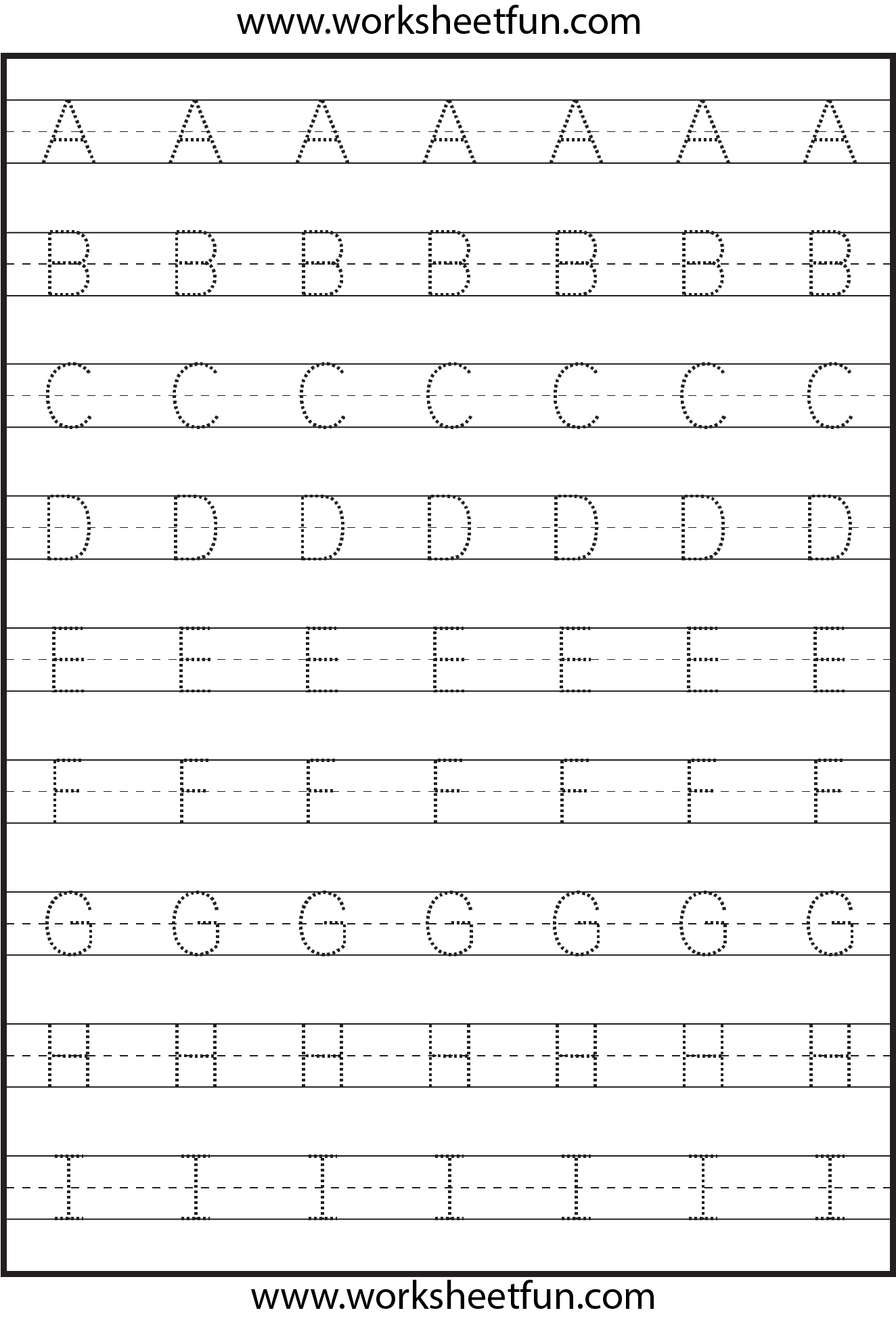 Handwriting Worksheets for the Alphabet
