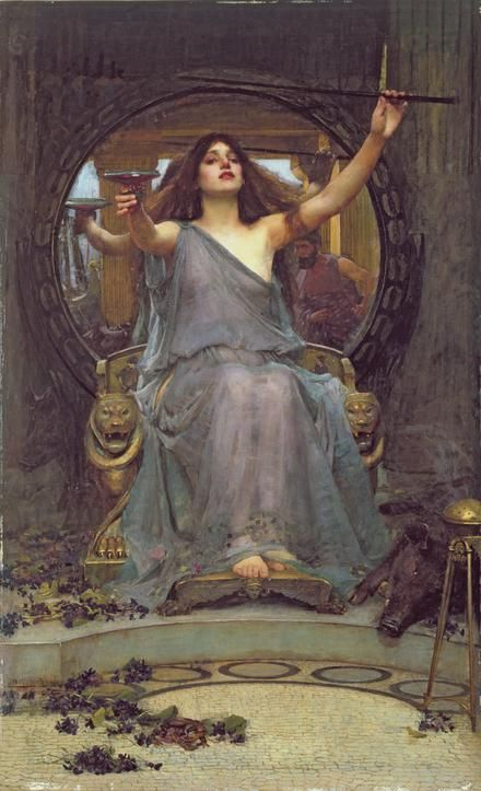 J.W. Waterhouse  Circe Offering the Cup to Ulysses (1891)