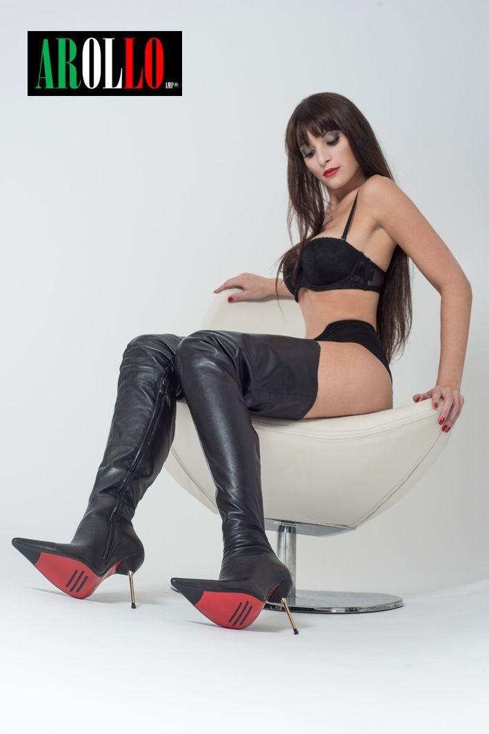 Arollo Leather Heeled Boots B79c14501e4ae1c0eb6b67ca644c68b2