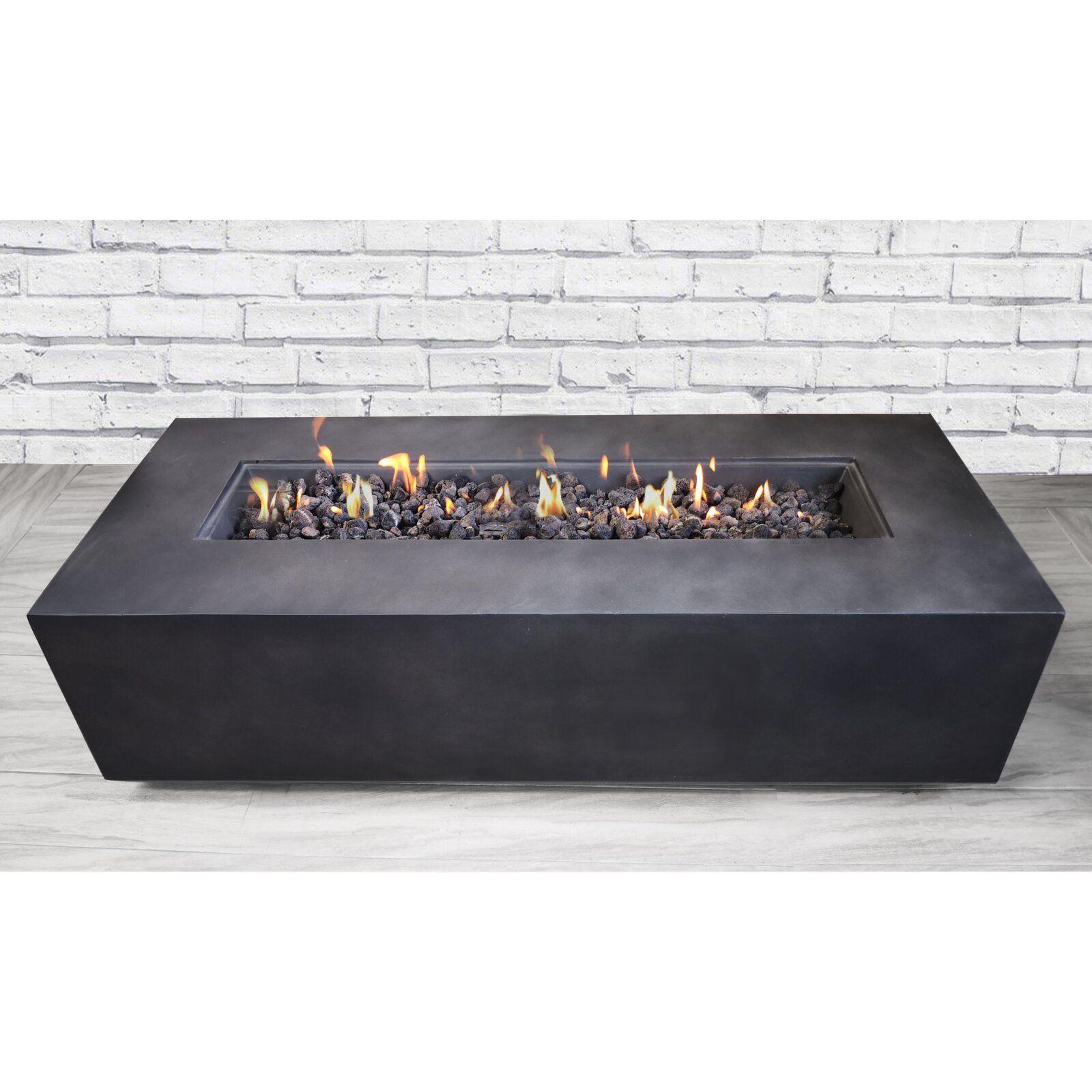 Santiago Concrete Propane Gas Fire Pit Table Reviews Allmodern Fire Pit Table Gas Firepit Propane Fire Pit Table