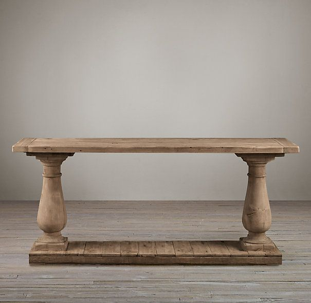 Barade Salvaged Wood Console Table Tables Restoration Hardware