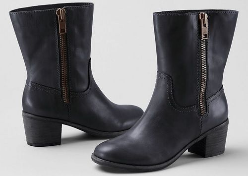 Holbrook Outside-zip Mid Heel Boots