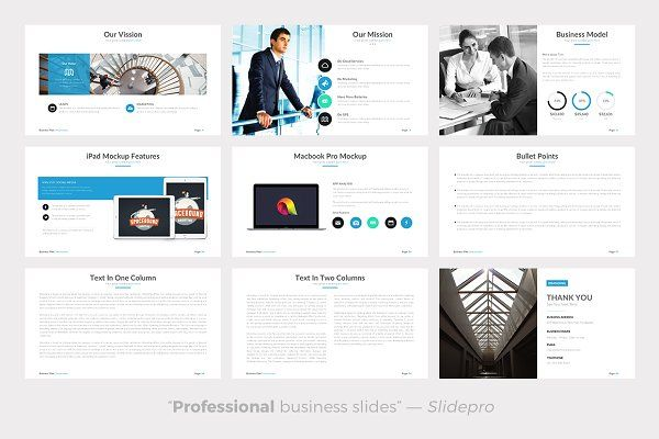Business Plan Powerpoint Template - Presentations - 9 ppt - professional business plan