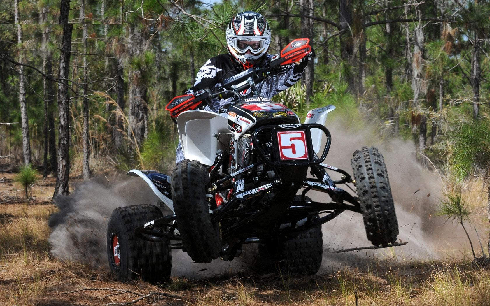 honda atv riding high definition wallpaper [ 1680 x 1050 Pixel ]