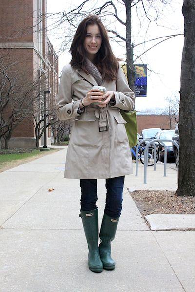 Trenchcoat & Green Hunter Boots | Stitch Fix? | Pinterest | Green ...