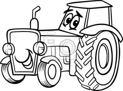 Znalezione Obrazy Dla Zapytania Kolorowanka Traktor Kolorowanki
