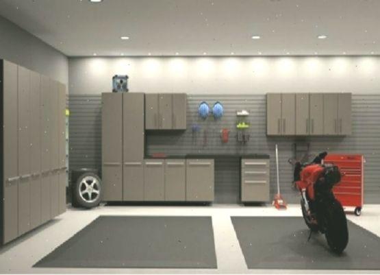 Schöne LEDLeuchten für die Garage  geführt