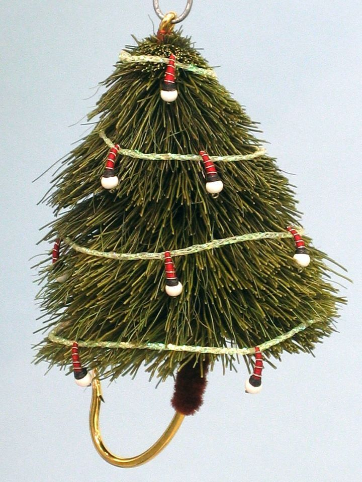 fly fishing christmas tree got some swap flies to tie for other forums