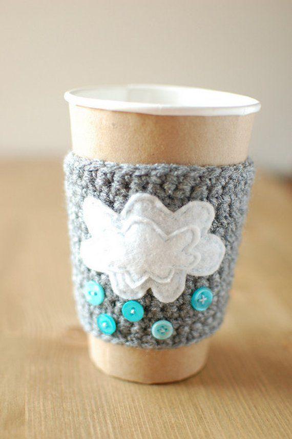 Coffee Cup Cozy Crochet Coffee Sleeve Reusable Coffee Cozy With