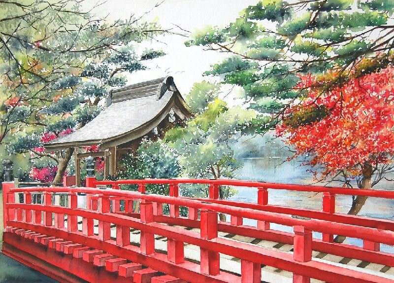 Watercolours Japan Marie-Claire
