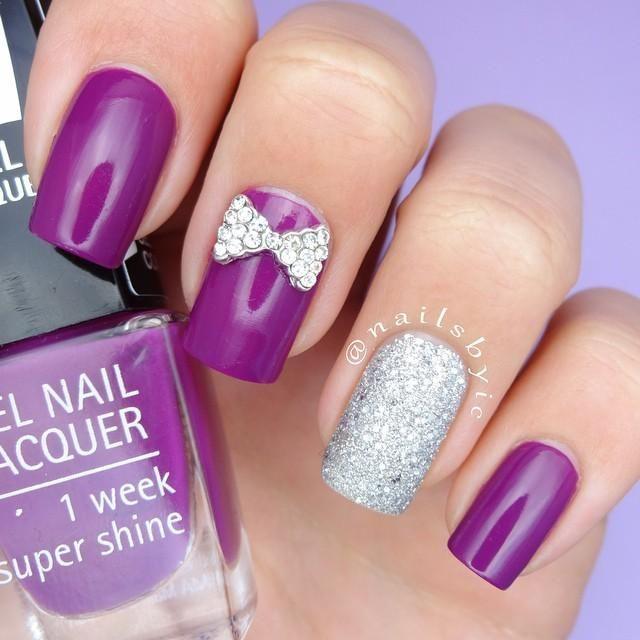 Violetta\'   decoracion de uñas   Pinterest   Purple nail, Makeup and ...