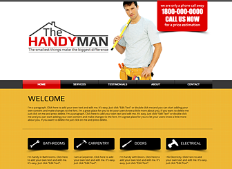 Handyman template a do it yourself website template for your business website templates wix 10 solutioingenieria Images