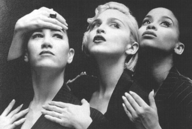 Madonna's Vogue video channeling 1930's menswear trend with
