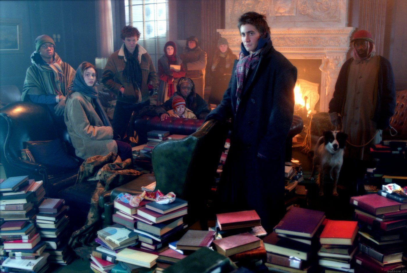 Image result for the day after tomorrow library scene