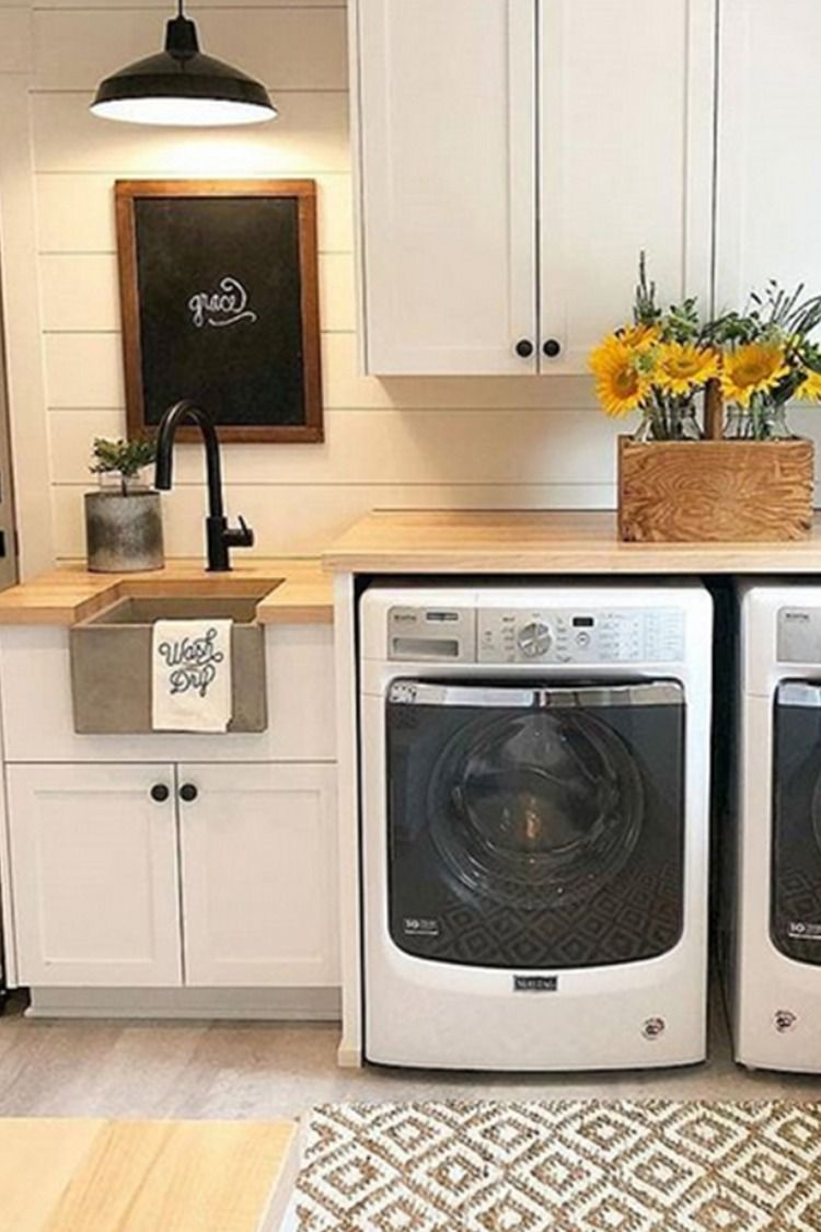 Laundry Room Design Add Function With Laundry Room Faucets Delta Faucet Inspired Living Laundry Room Design Laundry Room Inspiration Farmhouse Decor