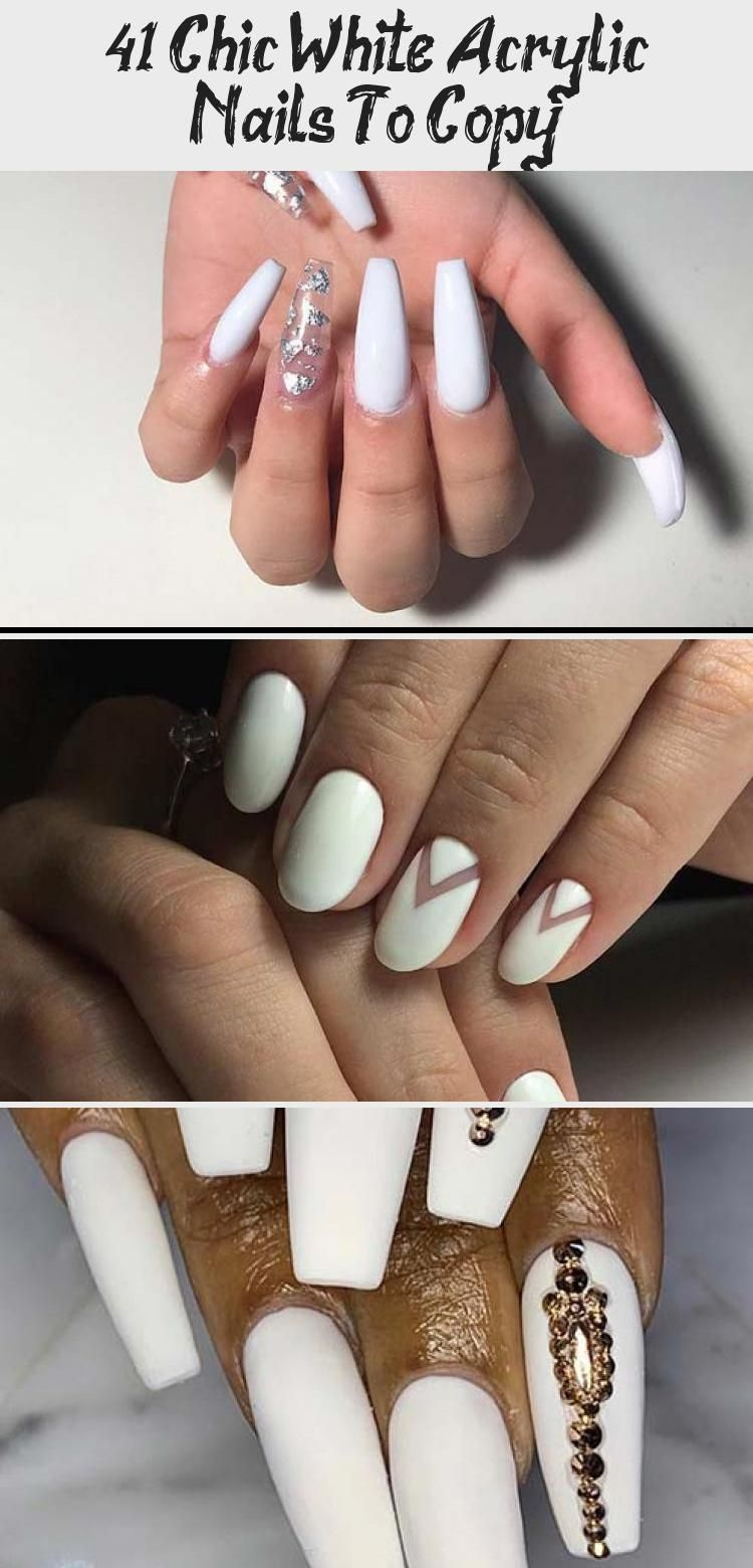 Photo of 41 Chic White Acrylic Nails To Copy – Nails & design