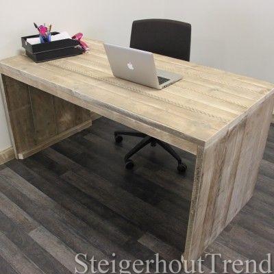 Bureau van steigerhout tienerkamer pinterest bureaus for Steigerhout bureau