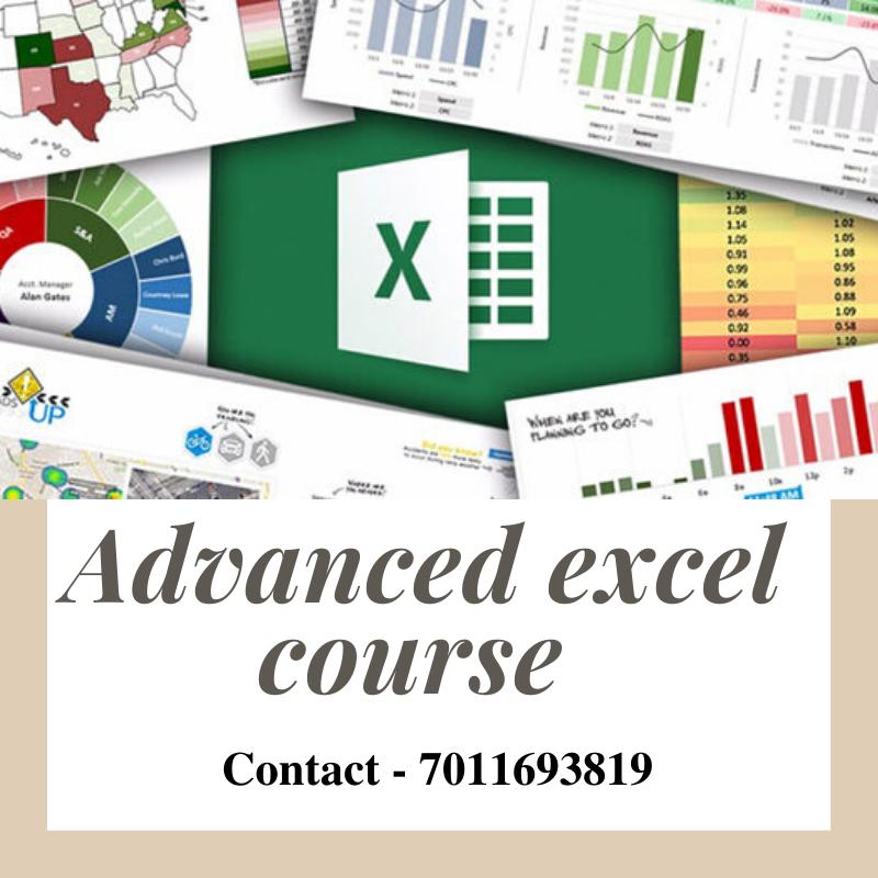Advanced Excel Training Call 7011693819 Data Visualization Online Tutoring Data Analytics