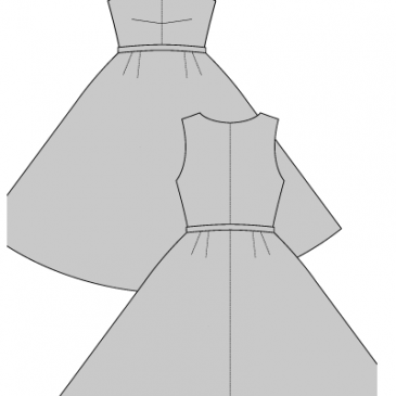 CARMEN DRESS – 1950\'s- Sewing Pattern. Lots and lots of free patters ...
