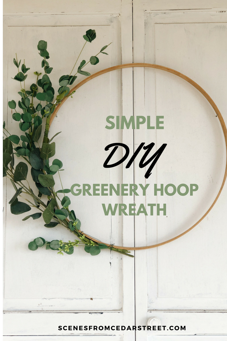A simple and beautiful tutorial on how to make and easy DIY hoop wreath for your home decor! #homedecor #homemade #homestyle #diy #diyproject #wreath #homesweethome
