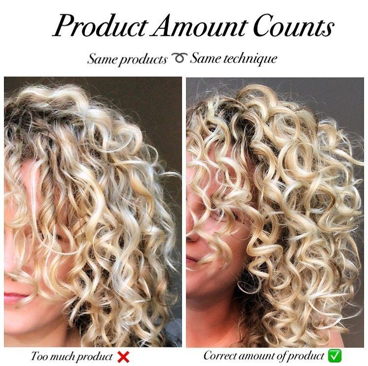 Inge On Instagram How Much Hair Product To Use Styling Curly Hair Is Not Only About T In 2020 Curly Hair Styles Naturally Curly Hair Styles Curly Hair Overnight