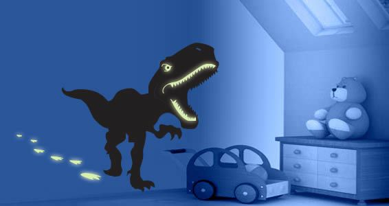 A Great Dinosaur Wall Decal With Glow In The Dark Accents. The T Rex Dino  Wall Sticker Is A Fabulous Way To Decorate A Kidu0027s Room, Playroom Or Even A  ...