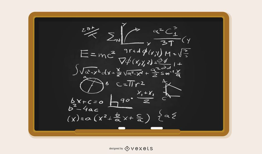 Vector Blackboard Filled With Equations #AD , #Ad, #Aff, #Blackboard, #Filled, #Equations, #Vector