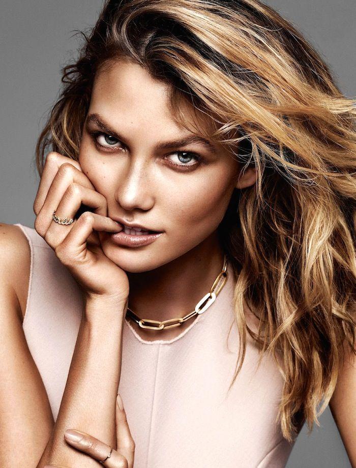 Karlie Kloss + caramel bronze skin + golden locks for Glamour France // Photo: Alique