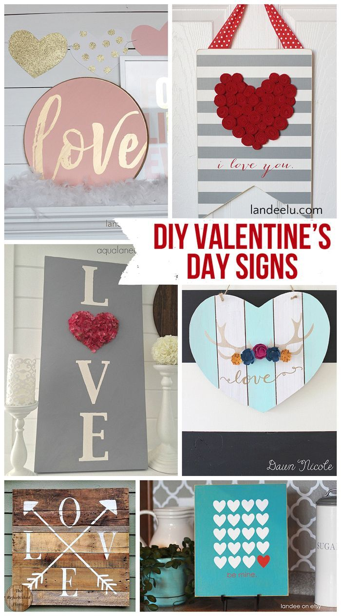 DIY Valentine\u0027s Day and LOVE Signs | Diy signs, Fun diy and Craft