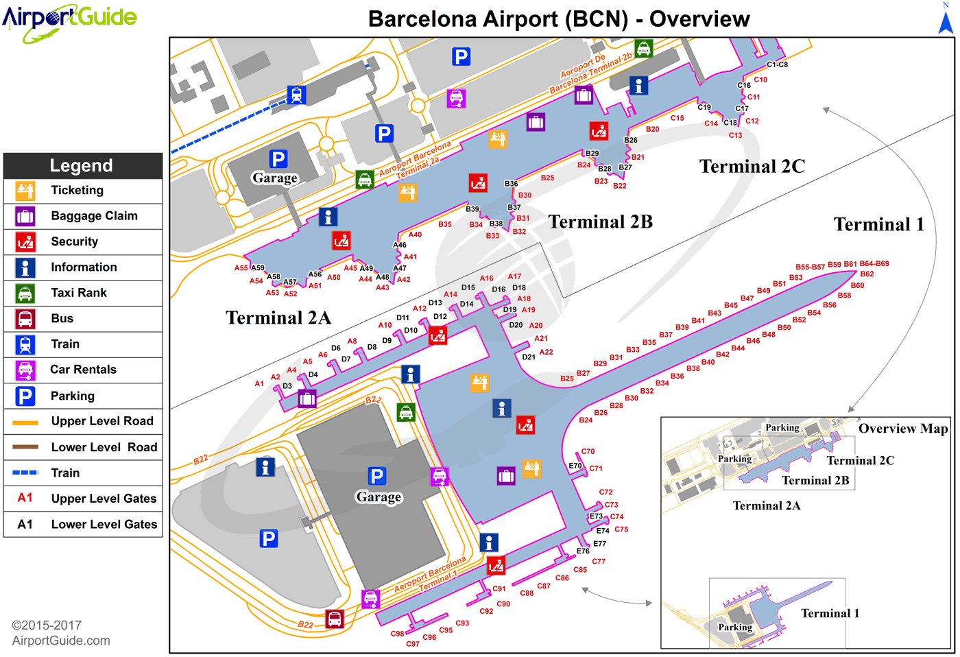 barcelona international airport map Barcelona Barcelona International Bcn Airport Terminal Map Overview Airport Map Airports Terminal Bus Terminal barcelona international airport map