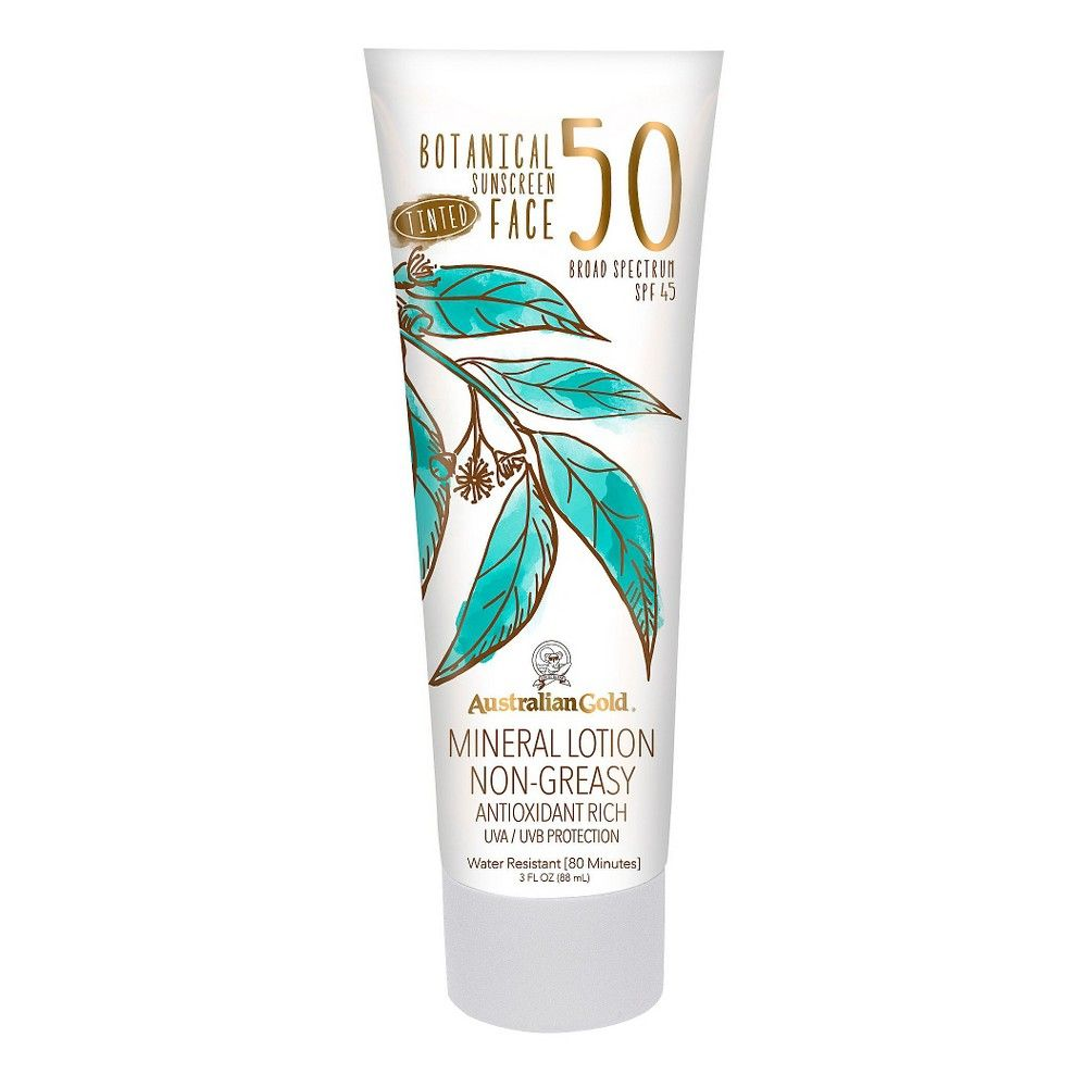 Australian Gold Botanical Mineral Sunscreen Tinted Face Sunscreen Lotion - SPF50 - 3oz #homemadefacelotion