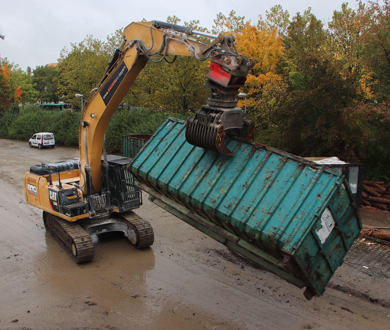 Cat Mit Container Bau Baustelle Baumaschinen