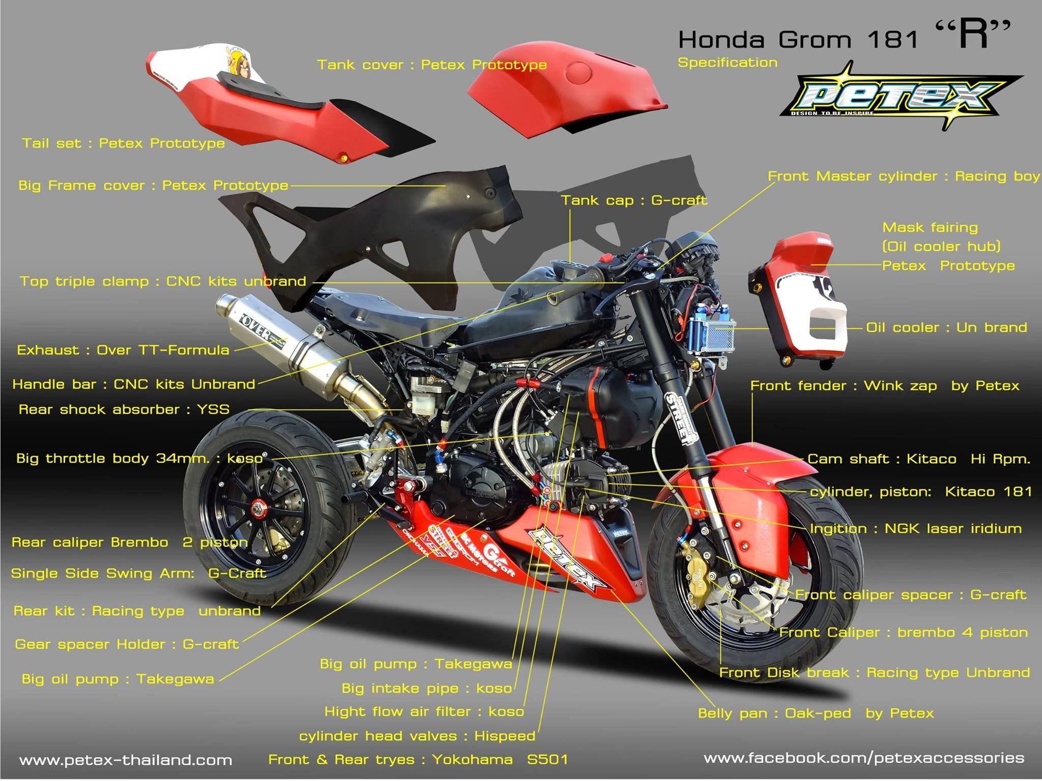 Pin by HypshotX on Custom Honda Grom | Motorcycle, Mini bike