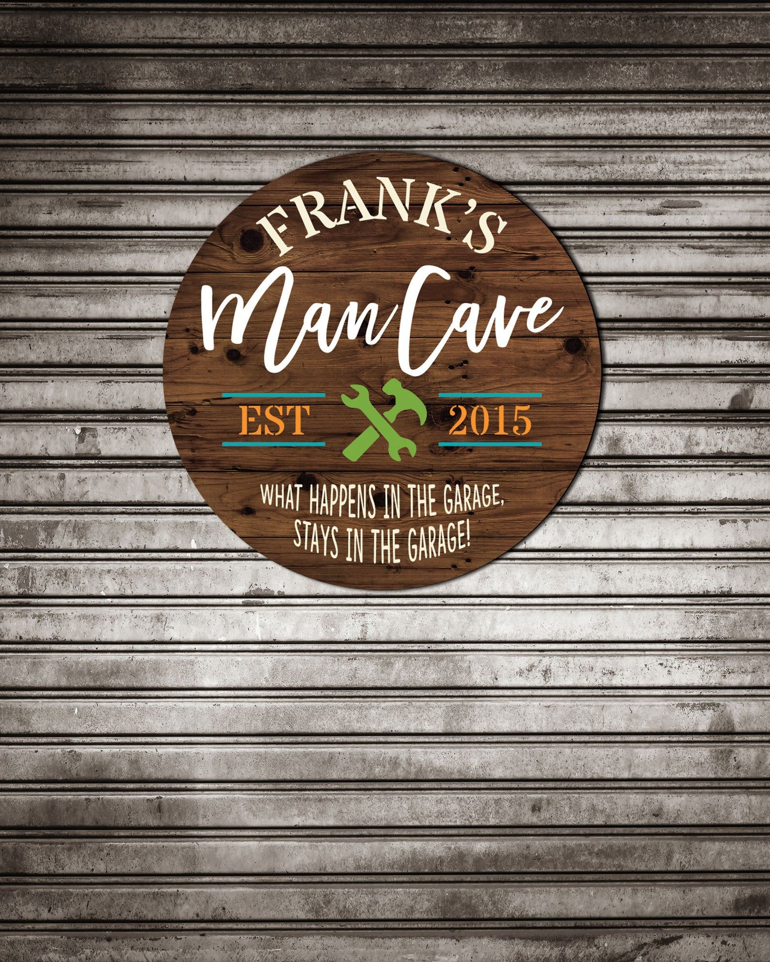 Father S Day Gift Man Cave Sign For Garage Tools Sign For Etsy Man Cave Signs Personalized Man Cave Signs Man Cave Garage