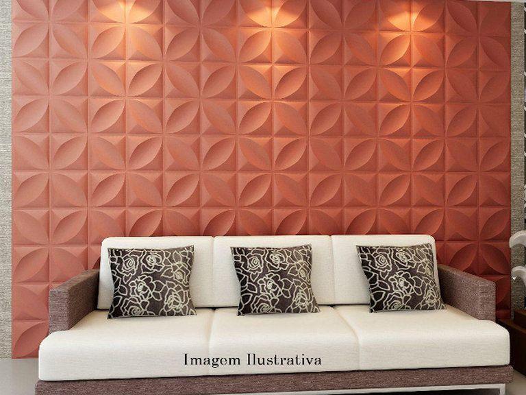 Gesso 3d novidade em revestimento de paredes com pain is - Placas para decorar paredes ...