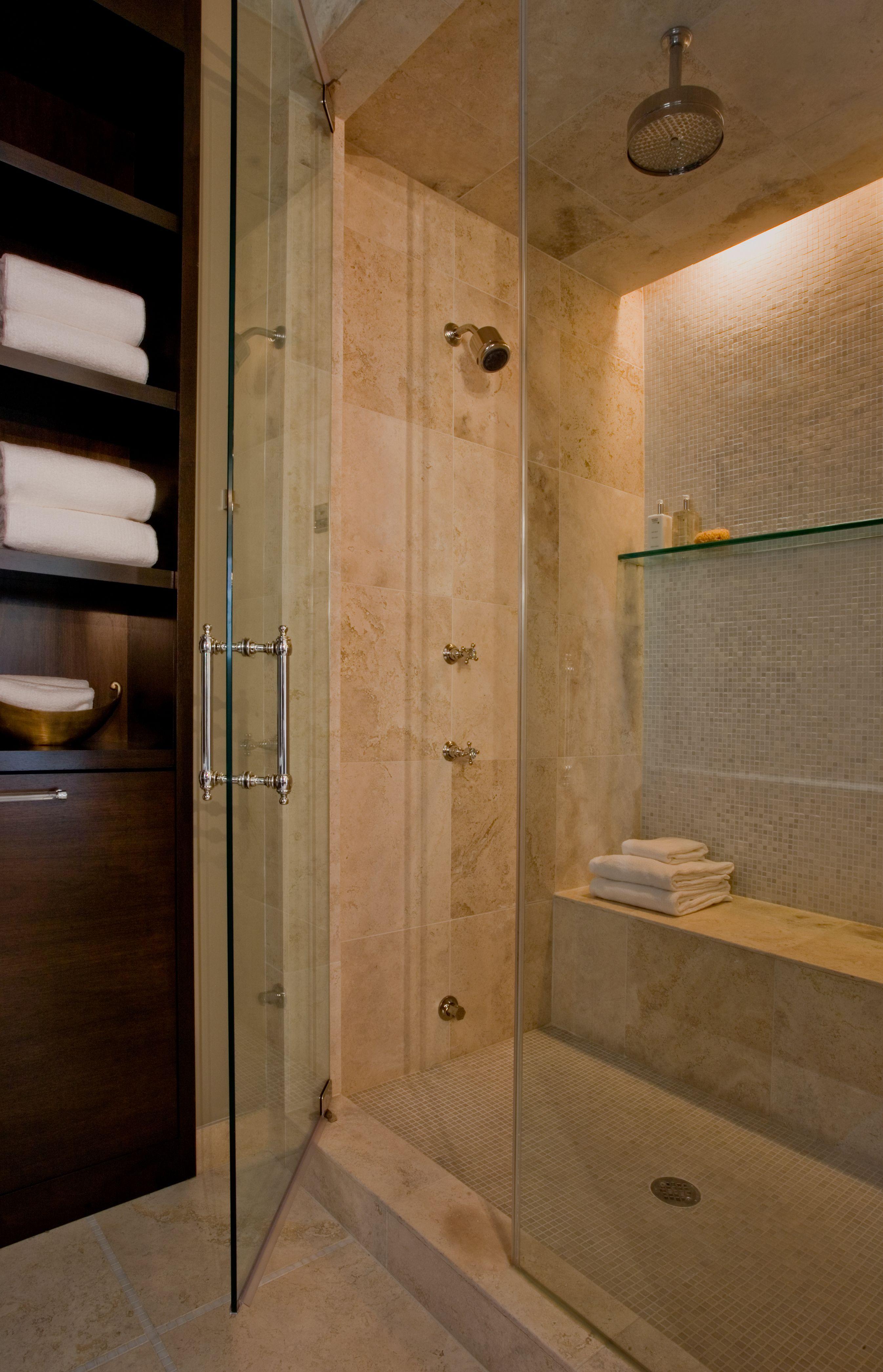 lg construction + development walk-in glass shower | salle de bain