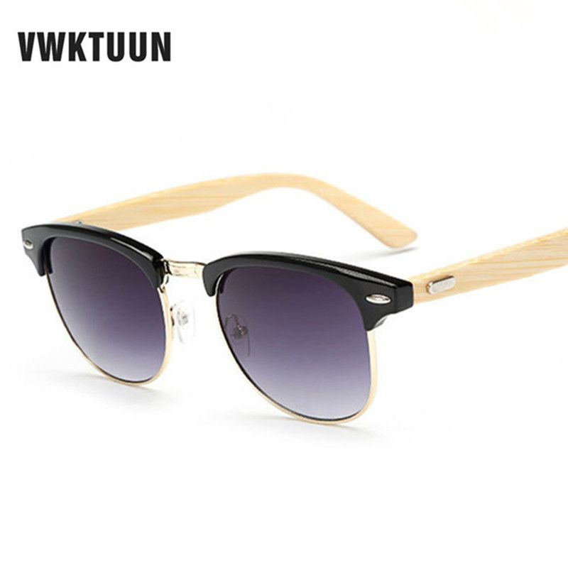 VWKTUUN Bamboo Sunglasses Men Women Wood Sunglasses Brand Designer Glasses  Mirror Sun glasses Retro Oculos Mens Sunglass UV400  Affiliate eb3be2504f55